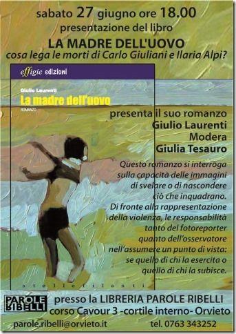 Giulio Laurenti presenta il suo romanzo La madre dell'uovo