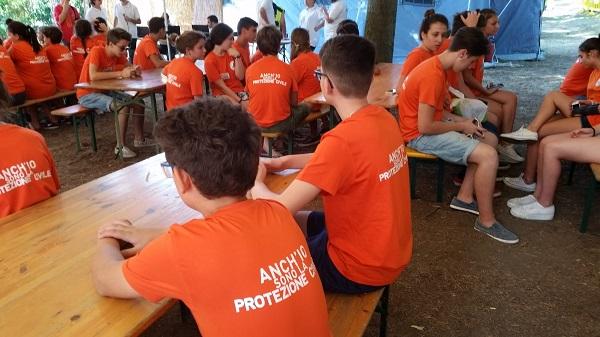 """""""Anch'io sono la protezione Civile"""", al via il campo scuola a Villa Paolina"""