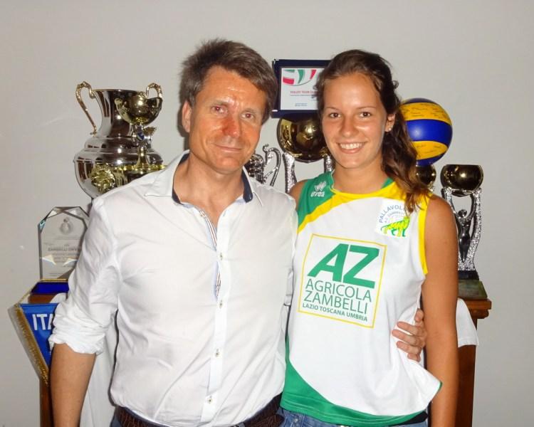 In maglia Zambelli Orvieto la giovanissima Arianna Zancarano