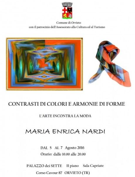 Personale di Maria Enrica Nardi a palazzo dei Sette