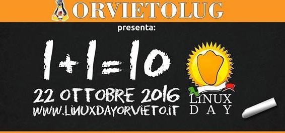 Linux Day 2016 @ Orvieto il 22 0ttobre la dodicesima giornata orvietana dedicata al sistema operativo GNU Linux