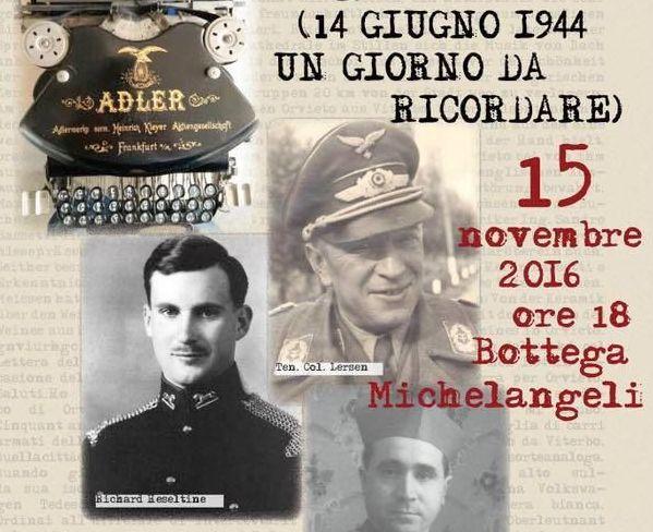 """""""14 giugno 1944 un giorno da ricordare .. Orvieto città Aperta"""""""