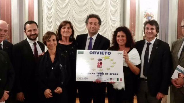 """Per Orvieto riconoscimento di """"Comune Europeo dello Sport 2017"""" al Parlamento Europeo di Bruxelles"""