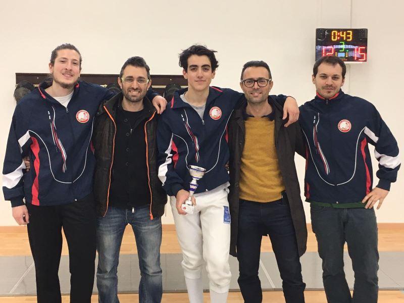 UISP Scherma Orvieto: Ludovico Cherubini vince l'Open di spada maschile