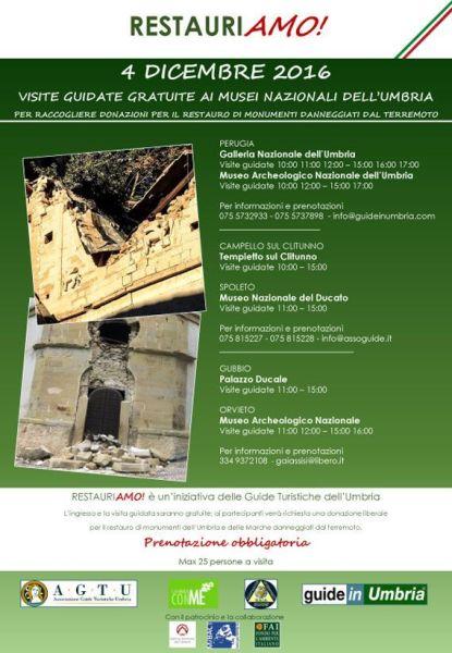 RestauriAMO!, anche il museo archeologico nazionale di Orvieto partecipa all'iniziativa regionale delle Guide Turistiche dell'Umbria