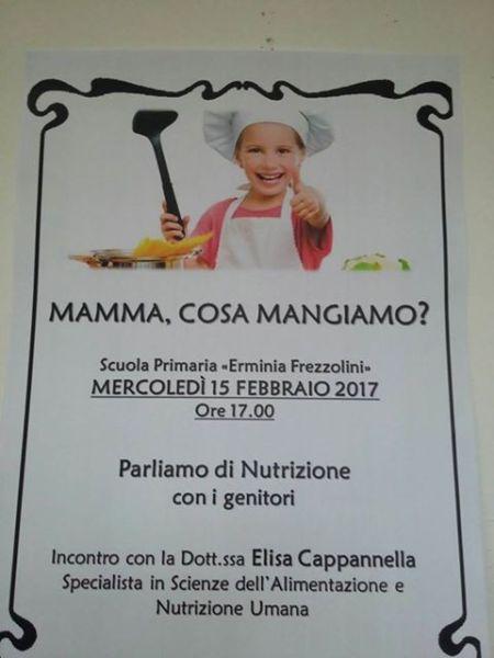 """""""Mamma, cosa mangiamo?"""". Nutrizione al centro dell'incontro alla scuola Frezzolini di Sferracavallo"""