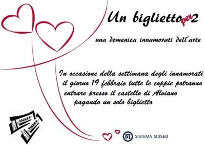 """Castello di Alviano. """"Un biglietto per due:una domenica innamorati dell'arte"""""""