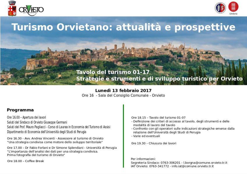 """Giornata di lavori sul tema """"Turismo Orvietano: attualità e prospettive"""""""