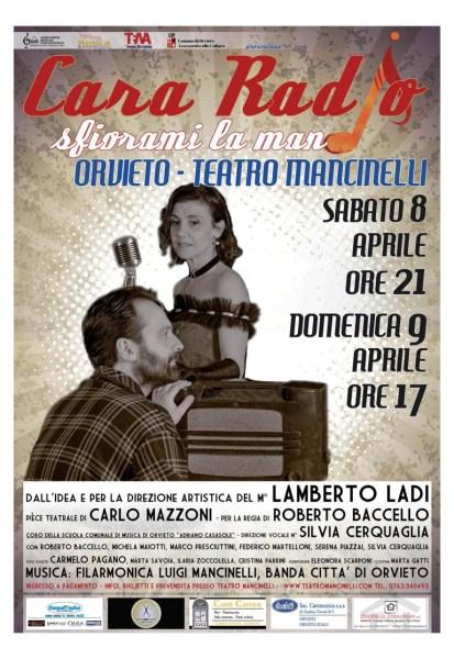Cara Radio…sfiorami la mano,al Mancinelli l'8 e 9 aprile con la Filarmonica Mancinelli e la Scuola Comunale di Musica Adriano Casasole