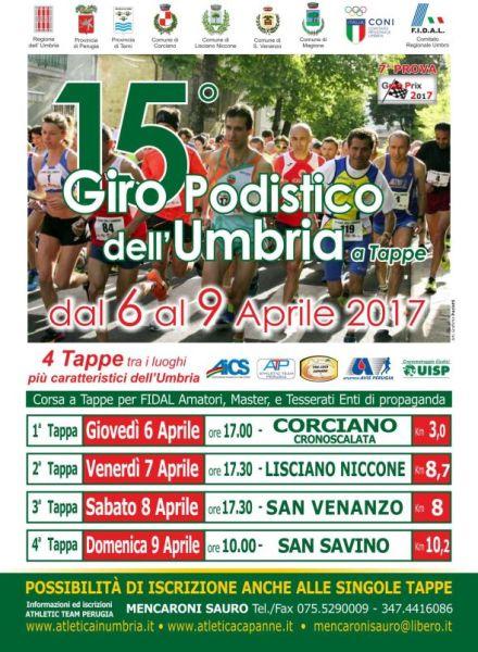 15° Giro Podistico dell'Umbria, l'8 aprile tappa a San Venanzo