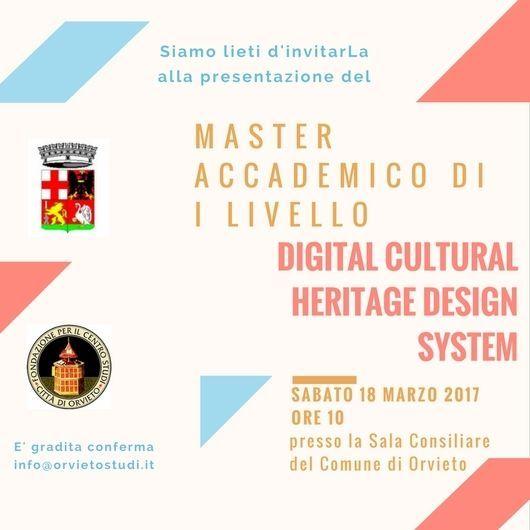 Master su Design di Sistema del Patrimonio Culturale al Centro Studi Città di Orvieto