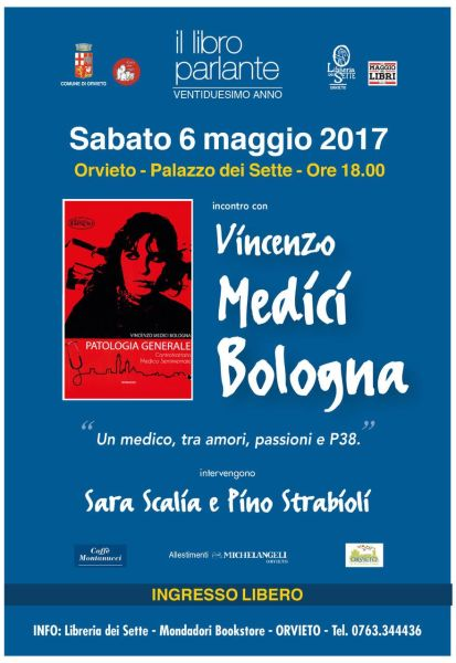 """Nuovo appuntamento de """"Il Libro Parlante"""" con """"Patologia Generale"""" di Vincenzo Medici Bologna"""