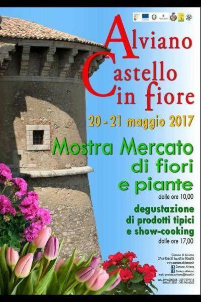 """Cooking show, proiezioni video, pittura e musica. Ad Alviano per """"Castello in fiore"""""""