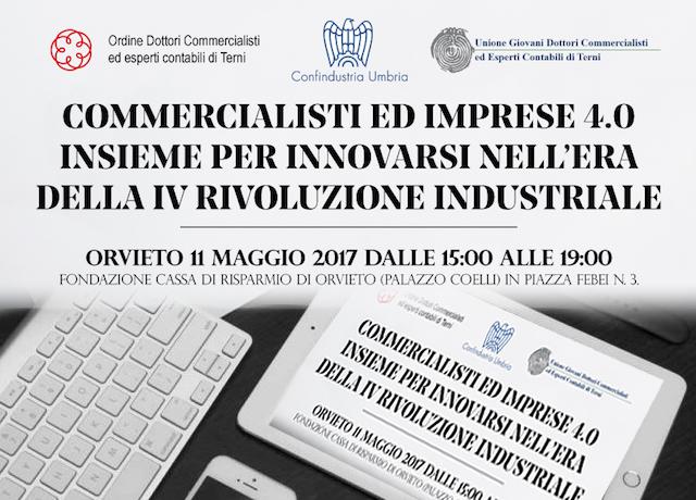 """""""Commercialisti e imprese 4.0"""" insieme per innovarsi nell'era della quarta rivoluzione industriale"""