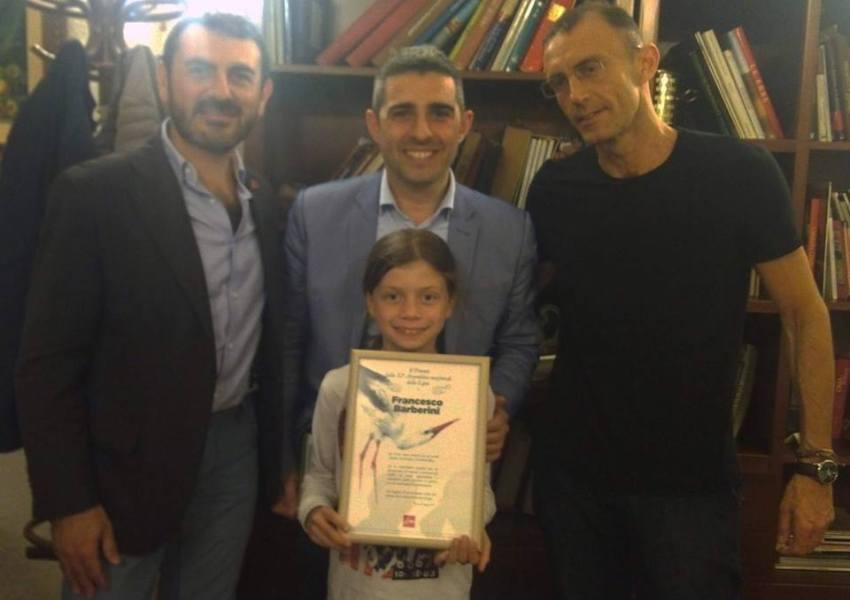 Il giovane aspirante ornitologo Francesco Barberini vince il premio della 52° Assemblea nazionale della LIPU