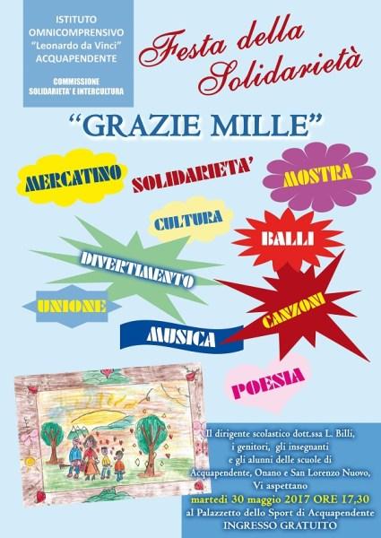 """""""Grazie mille"""", festa della Solidarietà al Palazzetto dello Sport di Acquapendente"""