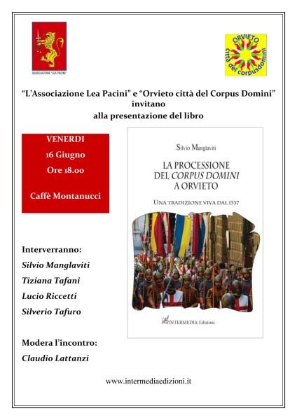 La processione del Corpus Domini a Orvieto, il libro di Silvio Manglaviti edito da Intermedia