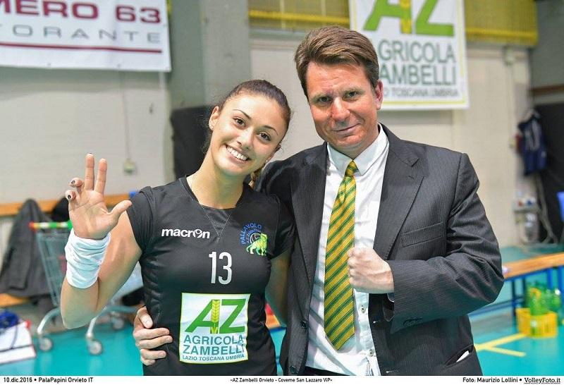 Giulia Rocchi ancora in gialloverde. Resta a Orvieto il libero della Zambelli
