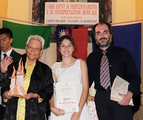 Dennis Lau ed Anna Orsini premiati ai corsi di perfezionamento di Castel Viscardo