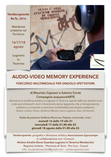 Tra presente e passato: a Lugnano in Teverina audio-video Memory Experience