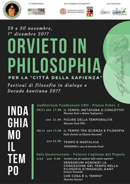 """Terzo anno di Decade Kantiana, a Orvieto il """"Festival della Filosofia"""" per spalancare le menti dei giovani"""