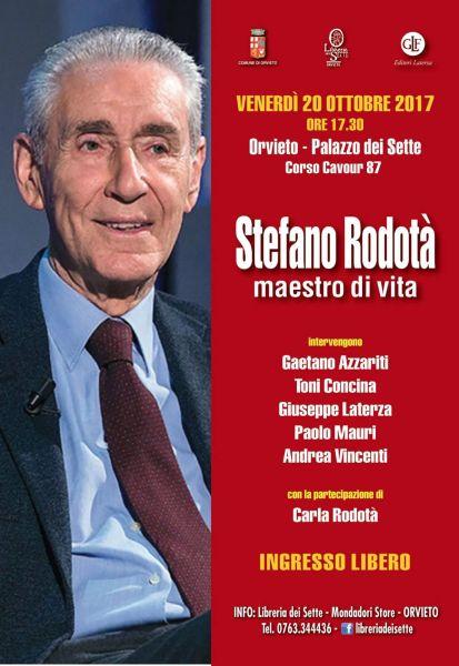 Orvieto rende omaggio a Stefano Rodotà. Appuntamenti al palazzo dei Sette e al Comune