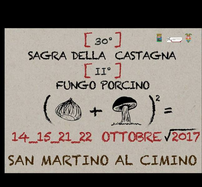San Martino al Cimino, nuovo appuntamento con la Sagra della Castagna e del Fungo Porcino