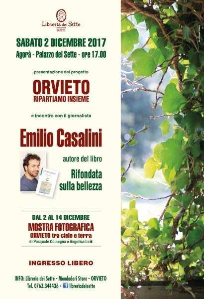 """""""Ripartiamo insieme"""", lo scrittore Emilio Casalini ospite alla Libreria dei Sette"""