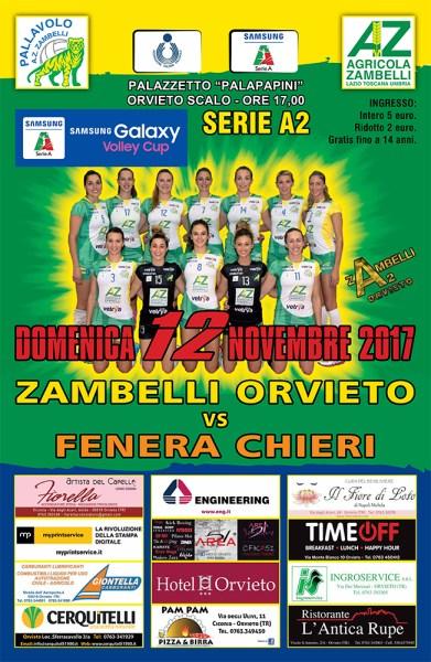 La Zambelli Orvieto torna al Pala-Papini per ospitare Chieri