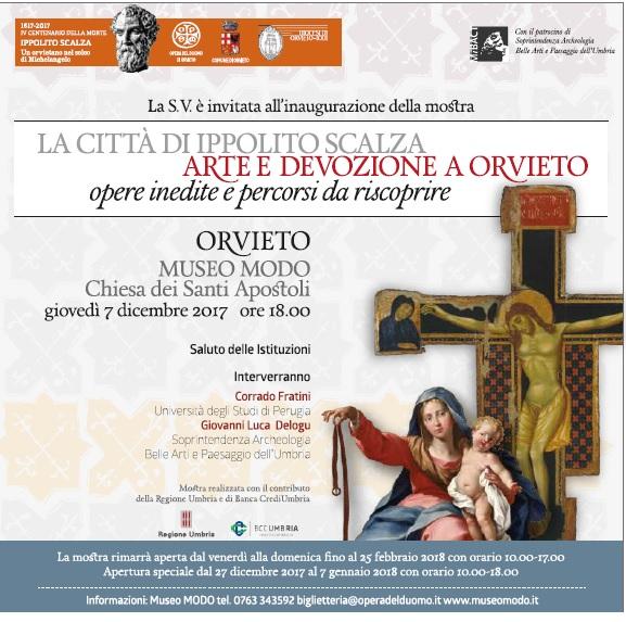 Ippolito Scalza a 400 anni dalla morte Orvieto lo ricorda con una mostra alla chiesa dei Santi Apostoli