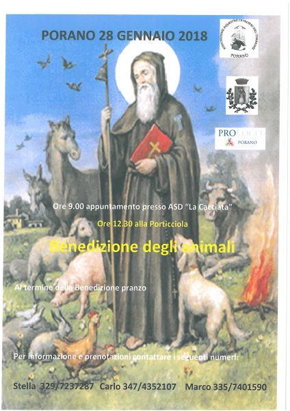 Benedizione degli animali, appuntamento a Porano sabato 28 gennaio