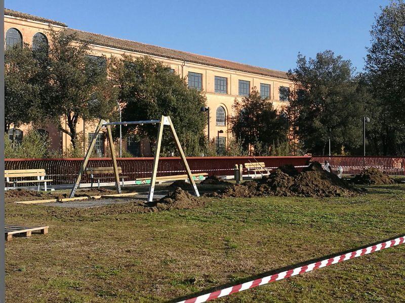 Nuovo parco giochi in Piazzale Roma, è un dono dell'Associazione 3.36