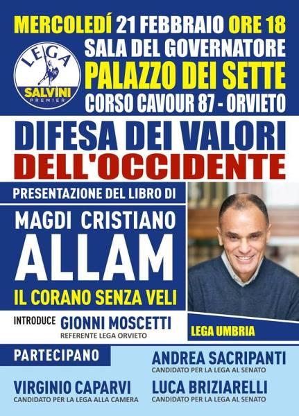 Terrorismo, sicurezza e immigrazione: Incontro con Magdi Cristiano Allam a Palazzo dei Sette
