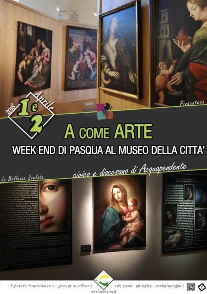 """""""A come Arte"""": ricco di appuntamenti il weekend di Pasqua ad Acquapendente"""