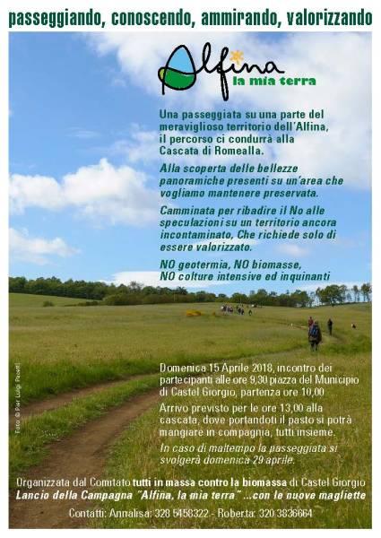 Alfina la mia terra: passeggiata contro la biomassa a Castel Giorgio