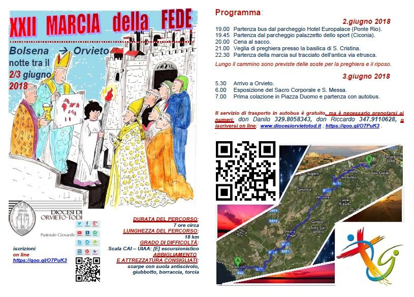 Verso il Corpus Domini, la 22esima edizione della Marcia della Fede Bolsena-Orvieto