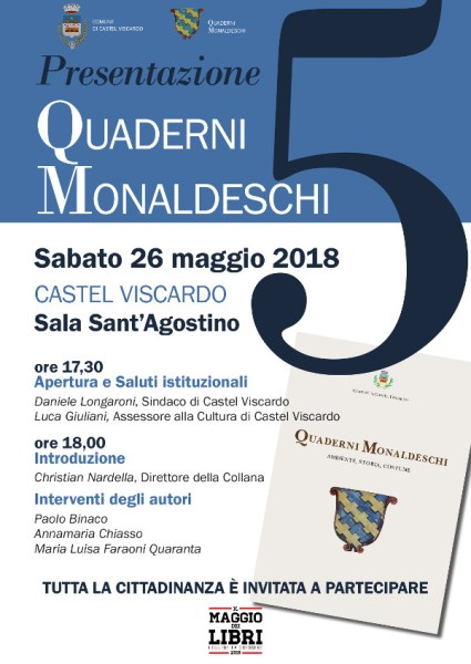 """Castel Viscardo, per """"Il Maggio dei Libri"""" presentazione del V numero de """"I Quaderni Monaldeschi"""""""