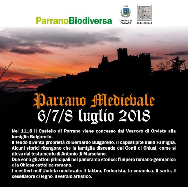 """""""Parrano Biodiversa"""", tutto pronto per la Festa Medievale"""