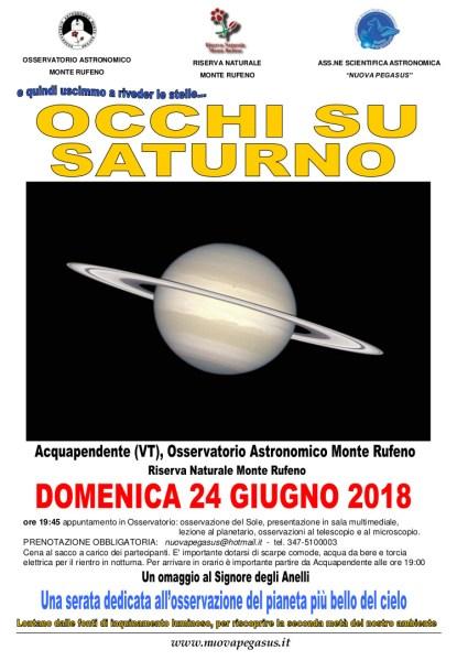 Occhi su Saturno, nuova serata col naso all'insù all'Osservatorio Astronomico Monte Rufeno