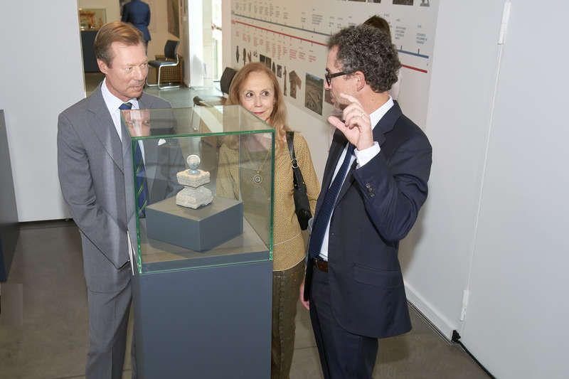 """Anche il granduca di Lussemburgo in visita alla mostra """"Il luogo celeste. Gli Etruschi e i loro Dei"""""""