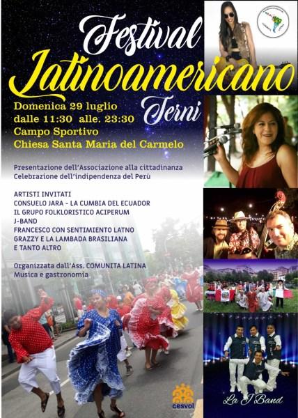 Al quartiere Italia di Terni arriva il primo Festival Latinoamericano con musica, balli ed enogastronomia