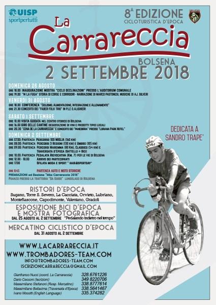 Arriva pedalando a gran velocità la Carrareccia 2018,  la Cicloturistica al Lago di bolsena