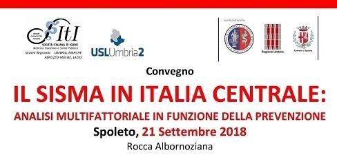 Il sisma in Italia centrale, convegno a Spoleto sulle sinergie tra Servizio Sanitario e ProCiv