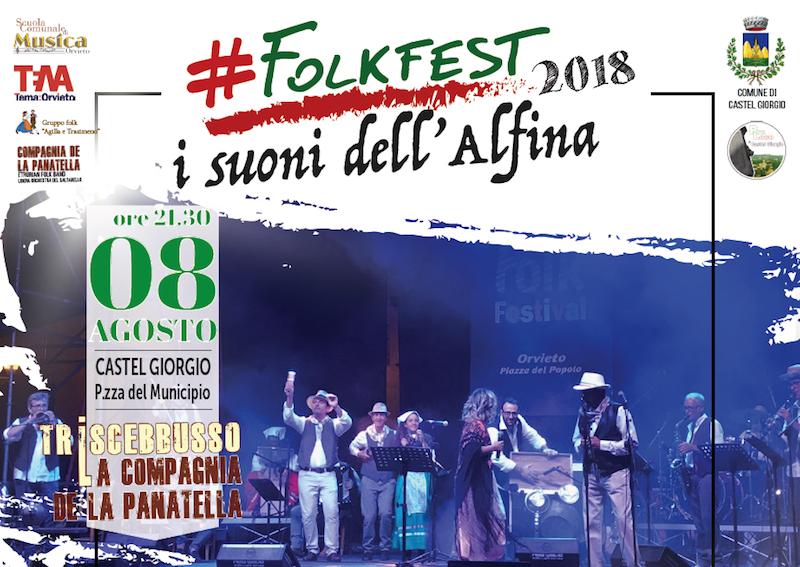 Secondo appuntamento per #FolkFest2018 con La Compagnia de La Panatella