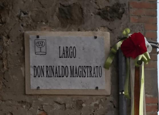 Ficulle, cerimonia di intitolazione del Largo Don Rinaldo Magistrato