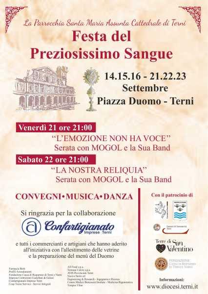 Tra culto e tradizione a Terni si celebra il Preziosissimo Sangue