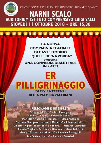 """A Narni Scalo in scena la commedia dialettale """"Er pilligrinaggio"""" con la compagnia """"Quello de na vorda"""""""