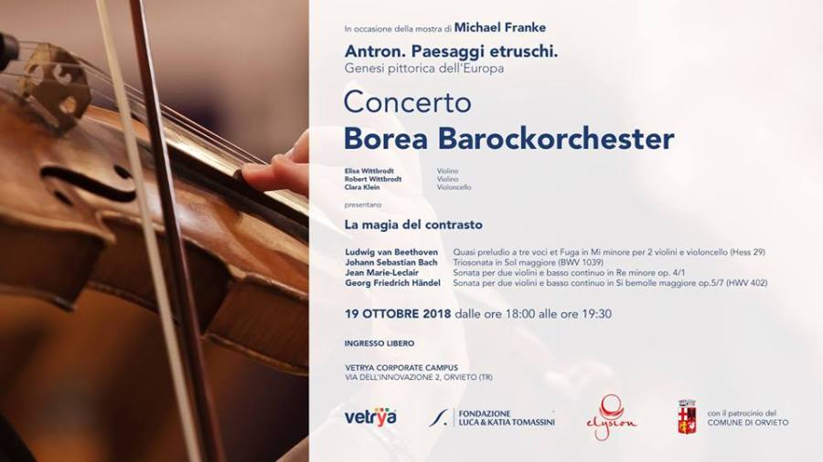 """""""La magia del contrasto"""", al Campus di Vetrya concerto della Borea Barock Orchester di Bonn"""