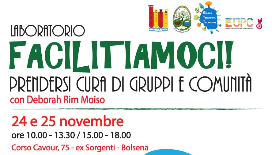 Corso/laboratorio sulla Facilitazione, appuntamento a Bolsena il 24 e 25 novembre