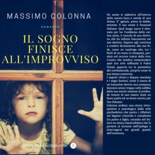 Il sogno finisce all'improvviso, il libro di Massimo Colonna verrà presentato a Palazzo Eroli di Narni
